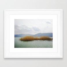 prespes.lakes.III.greece Framed Art Print