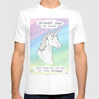Unicorn, Penis Horn Mens Fitted Tee White SMALL