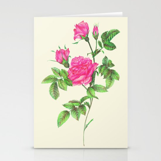Ballpoint Pen, Redouté's Roses Stationery Card