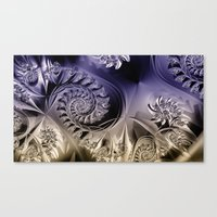 Metallic Coils Canvas Print
