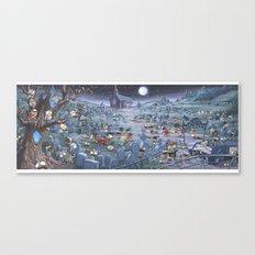 Zombie Melee Canvas Print
