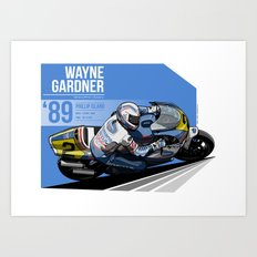 Wayne Gardner - 1989 Phillip Island Art Print