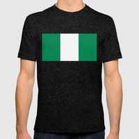 Flag Of Nigeria -High Qu… Mens Fitted Tee Tri-Black SMALL