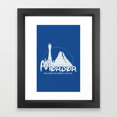 The Happiest Place in Middle Earth Framed Art Print