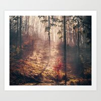Little Red Tree Horizont… Art Print