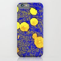 iPhone & iPod Case featuring Gold and Blue Harmony by Alex Tavshunsky