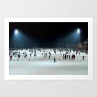 Budapest Ice Rink Art Print
