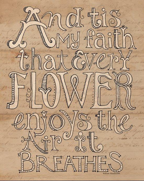A Flower Breathes Art Print