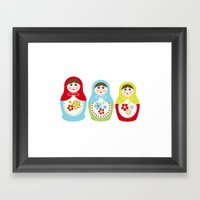 Matrioshka Dolls - Trio Framed Art Print