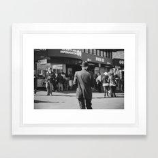 Hat Man Framed Art Print