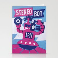 Stereo Bot Stationery Cards