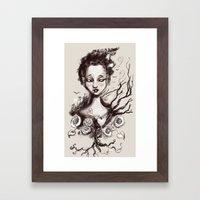 Scatter Heart Framed Art Print