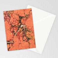Marble Pink Square # 2 Stationery Cards