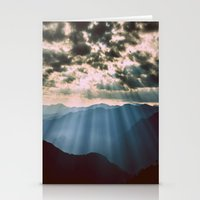 mountains Stationery Cards featuring mountainS Dark Sunset by 2sweet4words Designs