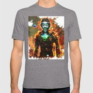 Dead Space Mens Fitted Tee Tri-Grey SMALL