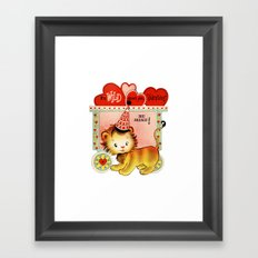 Wild About You Valentine Framed Art Print