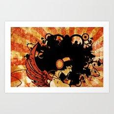 Rebel Lady Art Print