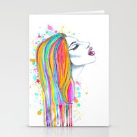 She's Like A Rainbow Stationery Cards