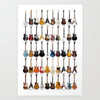 Guitar Legends Art Print