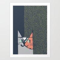 Cubist Cat Study #1 By F… Art Print