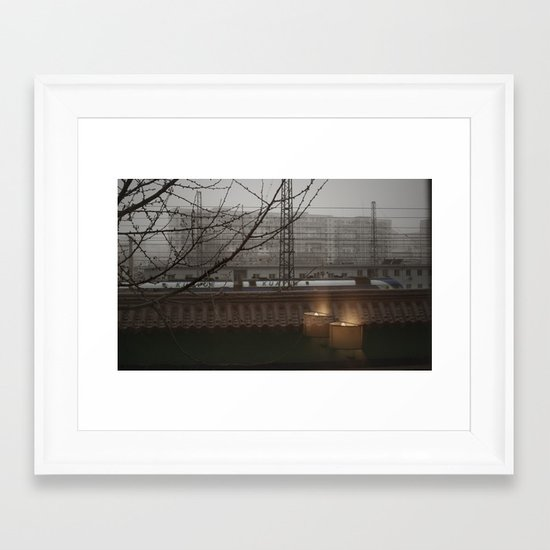 Morning Line Framed Art Print
