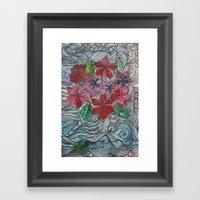 Doodle Garden Framed Art Print