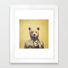 Humanimal: Bear Framed Art Print