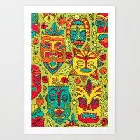 Tiki Tiki Art Print