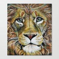 Lion Gaze Canvas Print