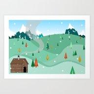Mountain Christmas Art Print