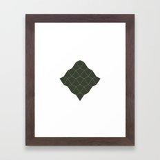 #216 Bird/ghost – Geometry Daily Framed Art Print
