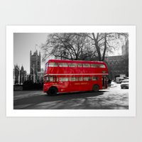 Red Routemaster bus Art Print