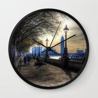 River Thames Path Wall Clock