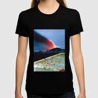 Quantum Leap Space Womens Fitted Tee Black SMALL