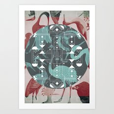 Eumaniraptora Art Print