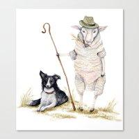 Sheepherd Sheep Canvas Print