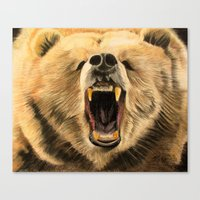 Roaring Bear Canvas Print