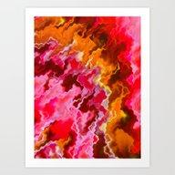 Pink And Orange Storm Art Print