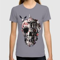 Istanbul Skull Womens Fitted Tee Slate SMALL