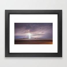 Lightning Strike, Black Rock Desert, NV Framed Art Print