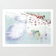 Art Print featuring Snow Queen by Lisa Evans