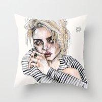 Throw Pillow featuring Sky  no,16  by Lucas David