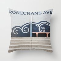 Rosecrans Avenue Throw Pillow