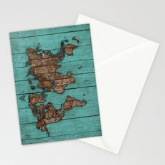 Wood Map Stationery Cards