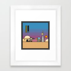 Mega Boss Battles - Han vs. Greedo Framed Art Print