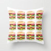 California Burger Throw Pillow