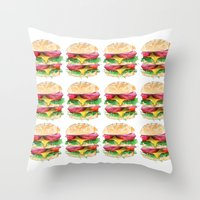 California Burger Throw Pillow