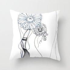 Flower Hair Throw Pillow