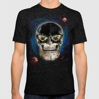 Ghost Skull Mens Fitted Tee Tri-Black SMALL
