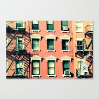 Orange Houses, New York Canvas Print